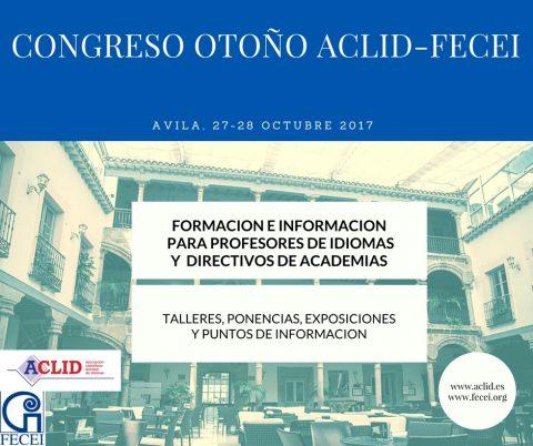 Congreso Otoño ACLID 2017