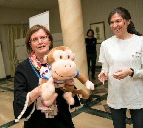 Prizegivers Cambridge monkey Anne Barr
